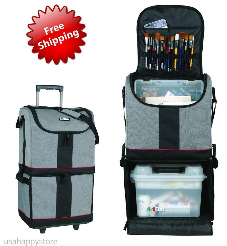 Artbin art supply bag w wheels storage organizer cart