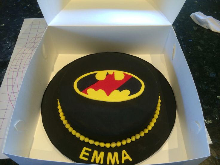 Essendon Batman Cake
