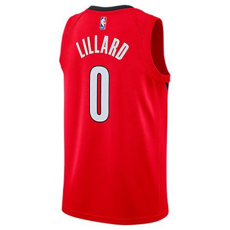 NIKE MEN S PORTLAND TRAIL BLAZERS NBA DAMIAN LILLARD EARNED EDITION  SWINGMAN JERSEY e1ca3b270
