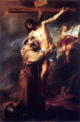 San Francisco abrazando a Cristo 1668 Autor: Murillo