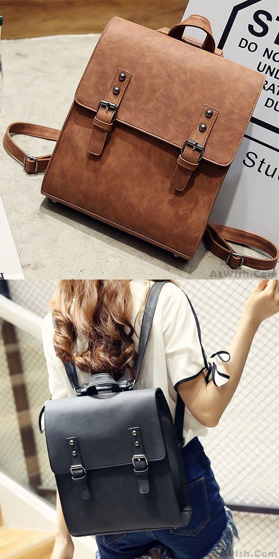 7a158a267f Retro Multifunction Shoulder Bag PU Square Backpack Frosted Metal Lock Flap  Backpack only  32.99