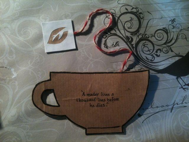 Teacup bookmark