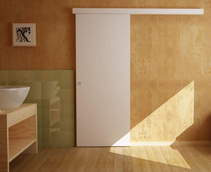 Las 25 mejores ideas sobre guias para puertas correderas for Puerta corrediza de madera