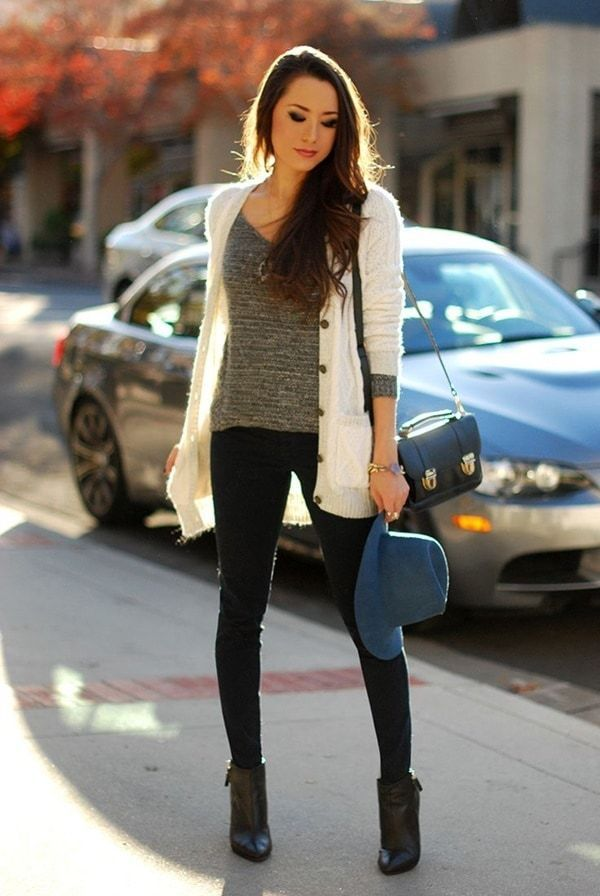 Stylish Chic Long Cardigan Outfits For Ladies (15)