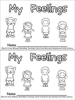Feelings Emotions on Printable Mini Coloring Book