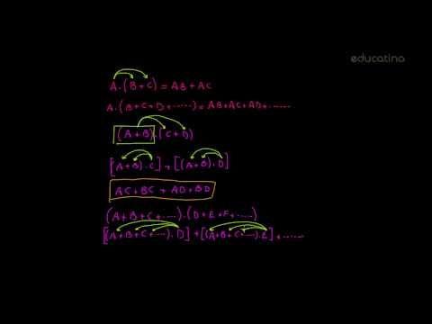 Propiedad distributiva y factor común - http://www.educatina.com/algebra/expresiones-algebraicas-1