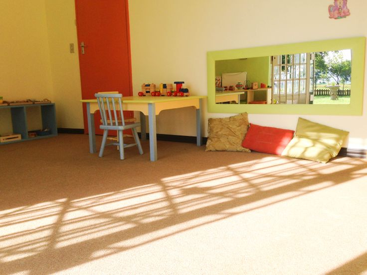 Our beautiful Toddler Environment. Calm and peaceful with a view and access to our beautiful garden.