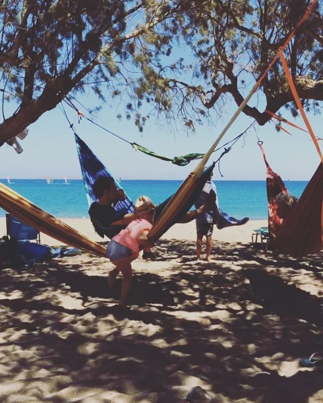 A day trip on Crete to a famous windsurf beach. Such a lovely atmosphere…