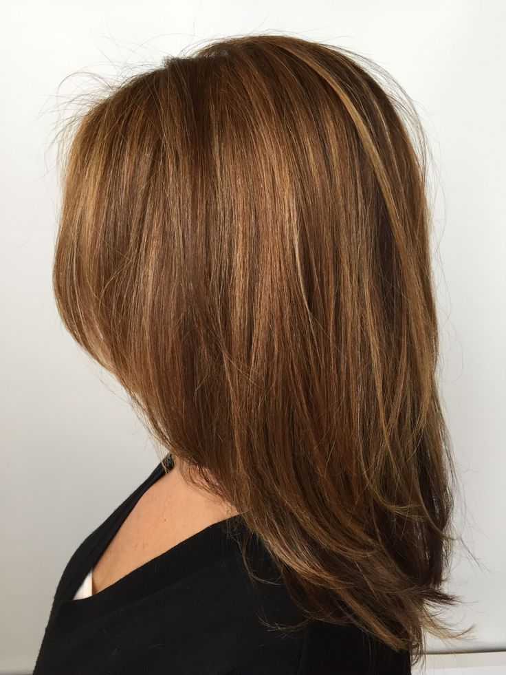 Soft highlighted hair in shades of gold, honey and brown Andrea@profilo day spa  #profilodayspa