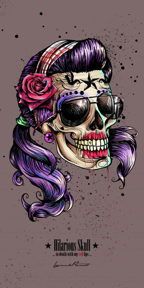mexican skull (hilarious)  by the art of leonardo paciarotti (leoarts) leonardopaciarotti