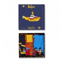 Send The Beatles' fan in your life on a trip to Pepperland with our The Beatles Socks Box Set. Part of our collaboration with The Beatles, this set of three pairs of socks comes in a box shaped like an EP record sleeve, with the iconic Yellow Submarine on the front. The socks included are Pepperland, Yellow Submarine and Monsters, each featuring a different element of this cult film. Made of combed cotton and available in unisex sizes.