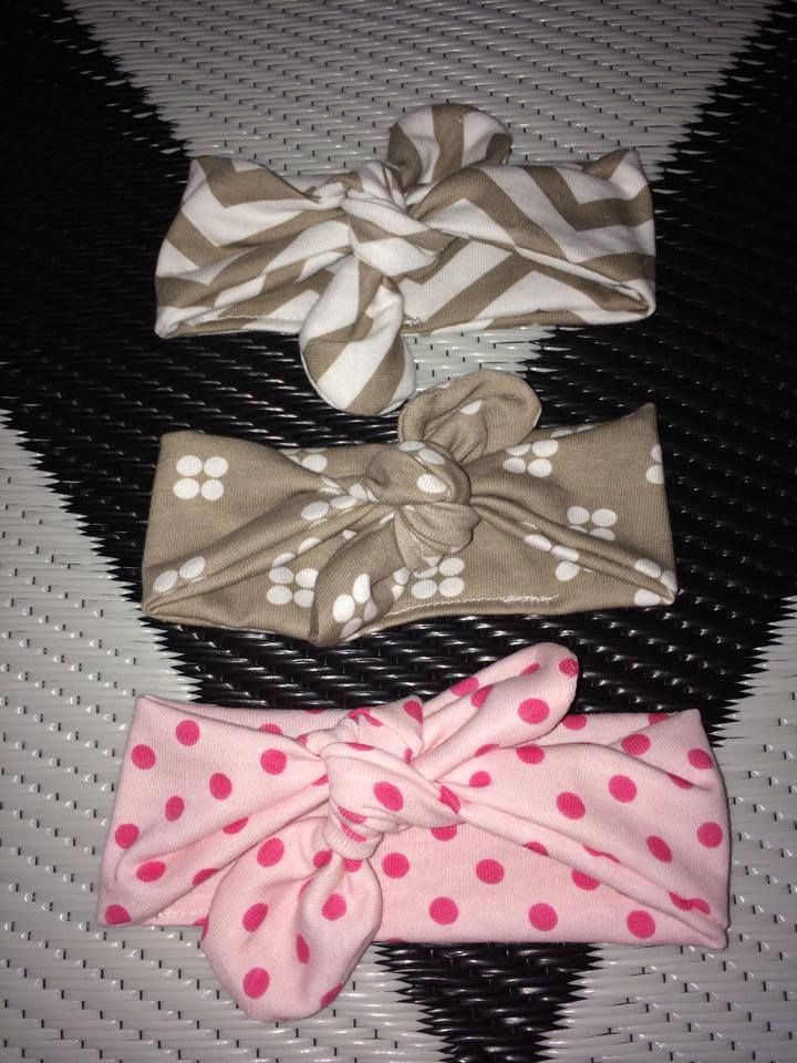 Newborn headbands. Have also made toddler sized headbands. See www.facebook.com/SageOakleyDesigns to purchase