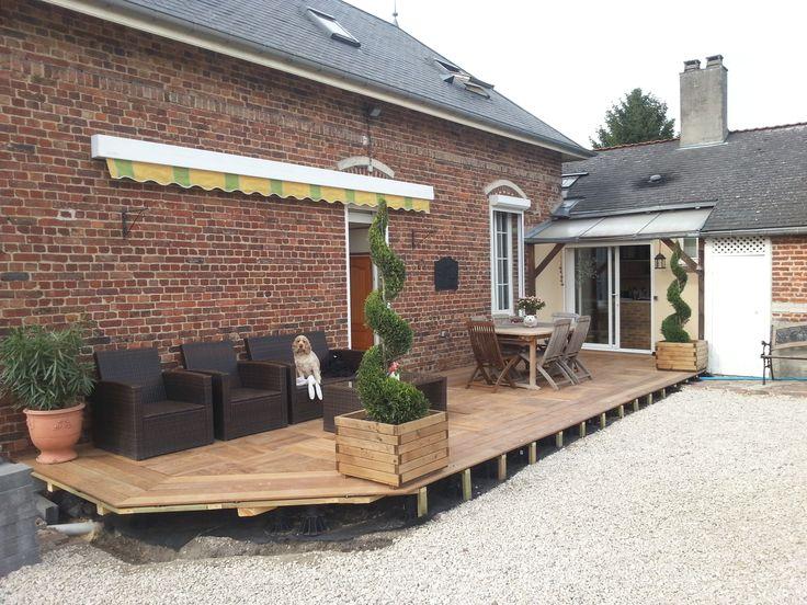 10 best Terrasse en bois réalisée par des particuliers images on - pose dalle terrasse sur beton