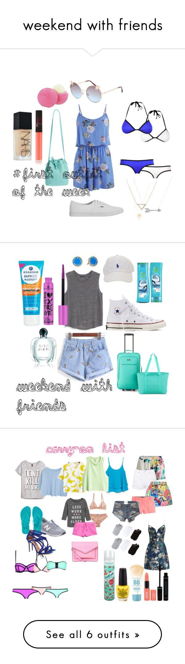"""weekend with friends"" by camillastefan1 on Polyvore featuring moda, MINKPINK, Vans, Mint & Rose, Full Tilt, Banana Republic, Adina Reyter, Joolz by Martha Calvo, Eos e NARS Cosmetics"