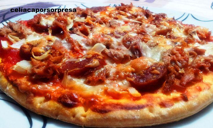 pizza tonno especial con chorizo (horno)