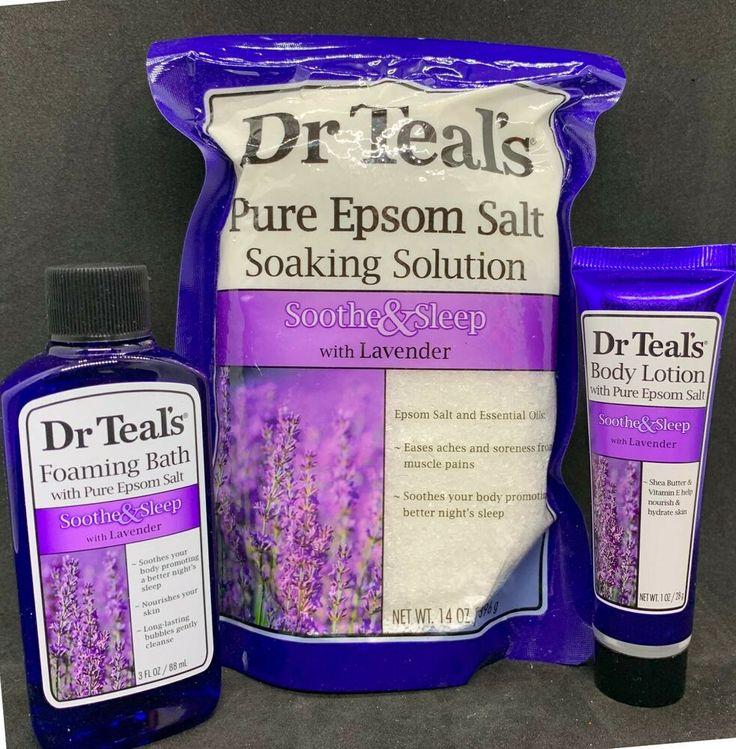 Dr teals soothe sleep epsom salt soak body lotion