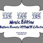 Music Tic Tac Toe Games, Rhythmic Collection
