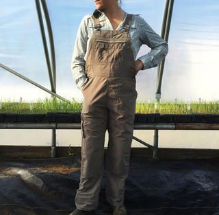Duluth Heirloom Gardening Overalls   Duluth Armachillo Plaid Shirt http://www.rodalesorganiclife.com/home/serious-workwear-for-women-that-looks-seriously-cool/duluth-heirloom-gardening-overalls-duluth-armachillo-plaid-shirt