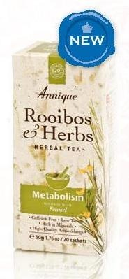 NEW Metabolism Tea* 50g   Fennel helps to stimulate   metabolism and may suppress   appetite and the desire for   sweet foods.    * Only effective (for weight loss) when used in conjunction with an energy-controlled diet, like Annique's   Lifestyle Programme, and an increase in physical activity and exercise. Ask your consultant about the  Annique Lifestyle Philosophy. 0732557537/sone@anniqueonline.co.za