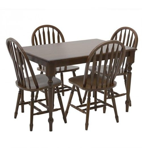 S_5 WOODEN DINING TABLE W_4 CHAIRS