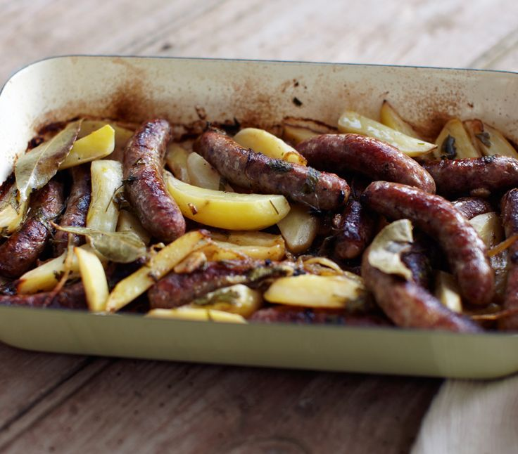 Rick Stein matches salty pork sausages with sweet aniseed fennel in an easy traybake.