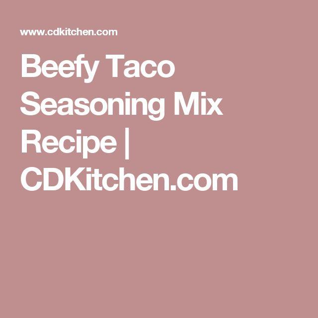 Beefy Taco Seasoning Mix Recipe   CDKitchen.com