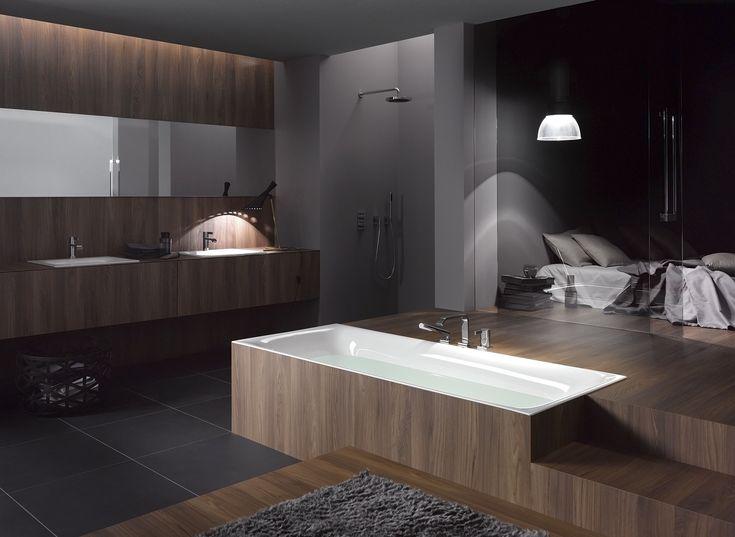Badkamer en slaapkamer in n ruimte verzonken bad bettelux van bette badkamer badkamers for Badkamer ruimte