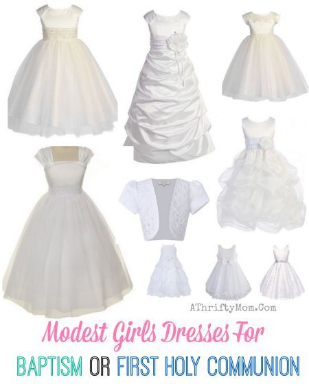 White Modest Baptism Dress, low cost dress for an LDS ...