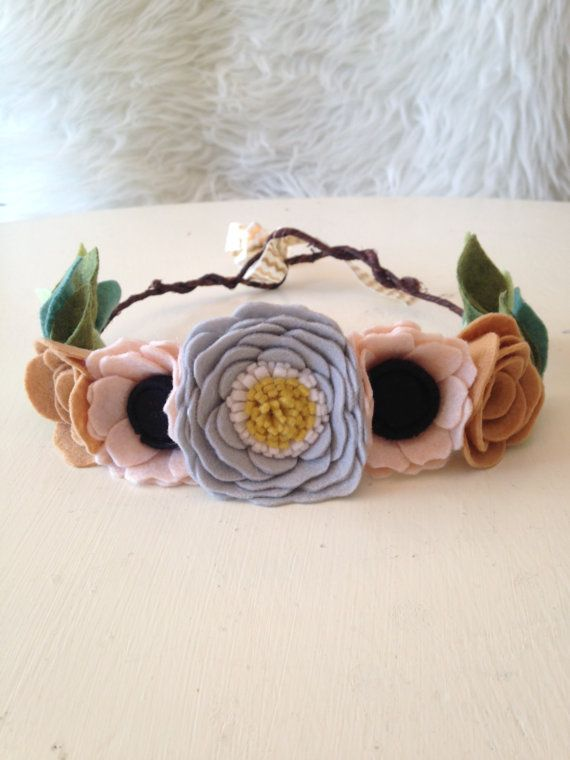 WOODLAND CROWN // Felt Flower Crown // Anemone  by HoneyCrown