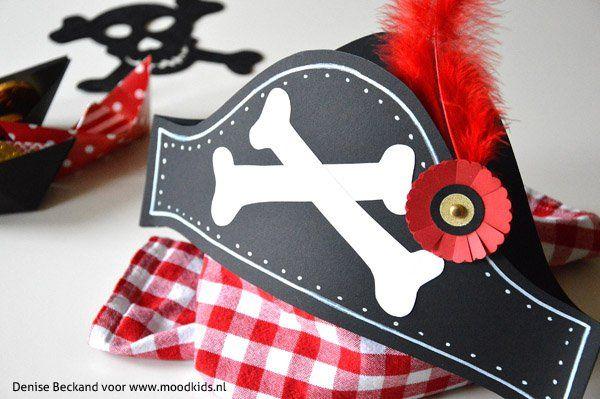 piratenhoed voor een piratenfeest  #download #piraten #piraten