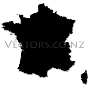 Blank Vector Map of France