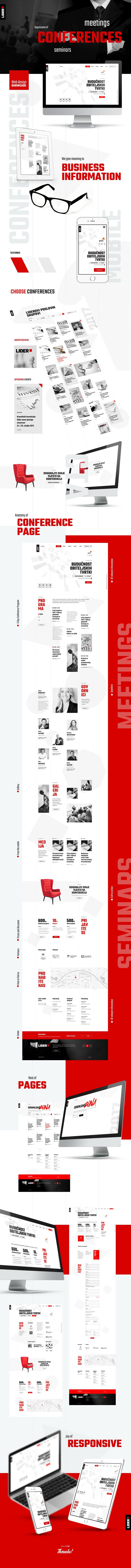 Web design project for Lider business conference organizer firm. Crafted by Euroart93