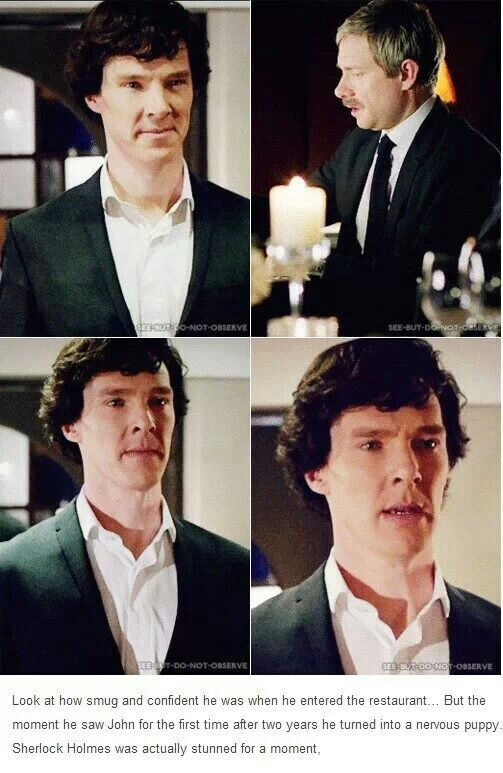 Sherlock thought it would be a piece of cake. He didn't realized how emotional the reunion would be for him.
