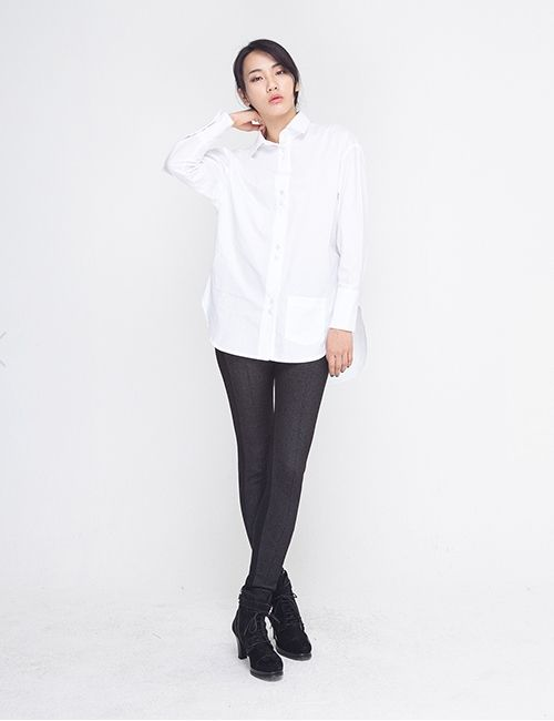 COTTON OVERSIZED WHITE SHIRT http://arcloset.com/product_view.php?gs_idx=TO140018SH