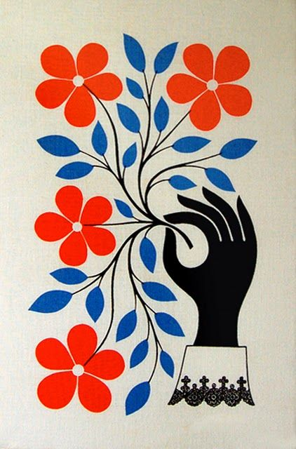 Midcenturia: Floral Prints, Wall Hanging, Posters Prints, Hanging Flowers, Illustration, Art Design, Graphics Design, Colors Combinations, Alexander Girard