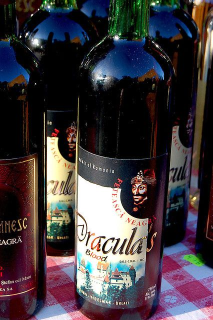 """Dracula's Blood Wine"" sold at the foot of Bran Castle by Curious Expeditions, via Flickr"