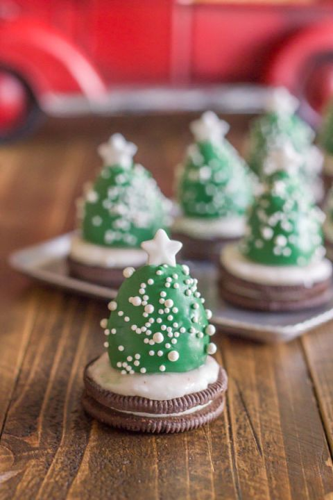 Little ones will enjoy eating this chocolate covered strawberry trees just as much as they love helping you make them.