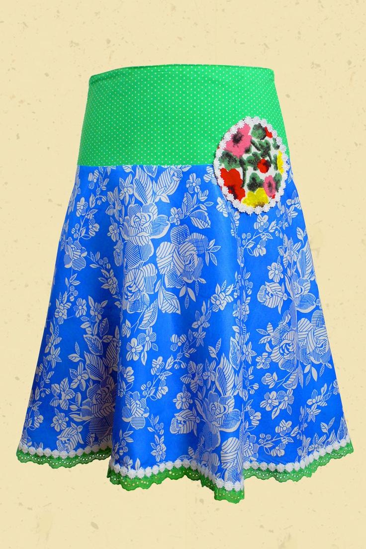 Klokrok blauw bloem -Talulabelle
