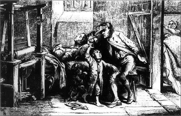 From this image, we can see the weavers were facing the unfair treatment, and they have nothing can do. Because violently suppressed by the Prussian military. I pick this because it present what happened in that time.