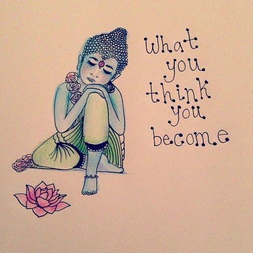 Lo que piensas, te conviertes.  #quote #frases