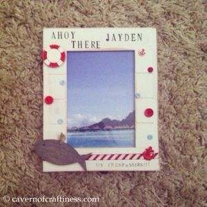 a gorgeous personalised shabby chic nautical picture frame tutorial revamp - Nautical Frames