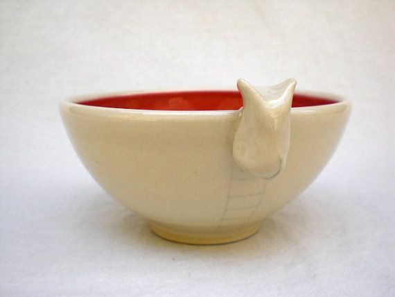 Hey, I found this really awesome Etsy listing at https://www.etsy.com/listing/163713667/kitty-bowl-red