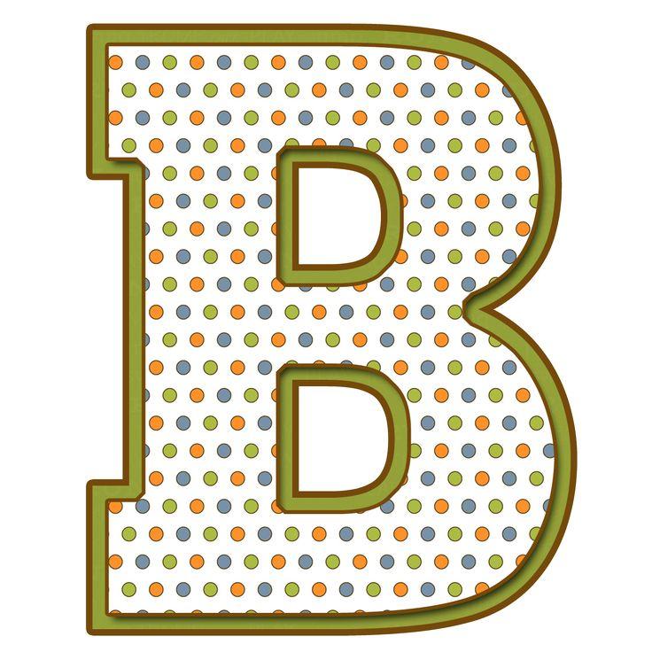 Letras  Mayúsculas para imprimir de bolitas de colores. Letra B.
