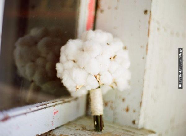 cotton wedding bouquet | CHECK OUT MORE IDEAS AT WEDDINGPINS.NET | #weddings #weddingflowers #weddingbouquets #bouquets