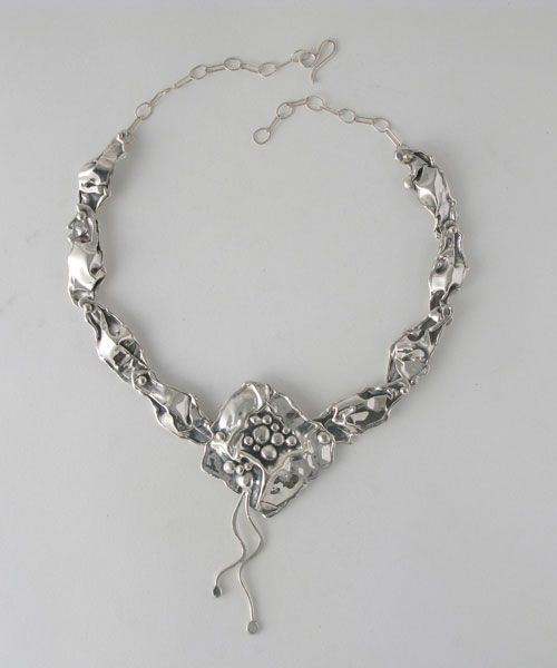 Necklace   Donald Marksz. Sterling silver.