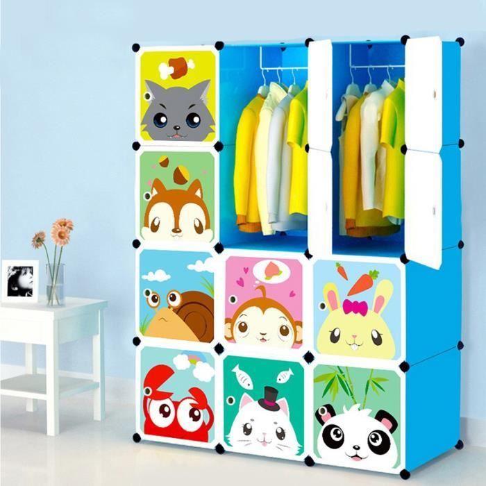 Armoires Etageres Plastiques Enfants Bleu 12 Cubes Armoires Meubles De Rangement Pour Vetements Chaussures Jouets Cartoon Armoire Plastique Etagere Plastique Mobilier De Salon