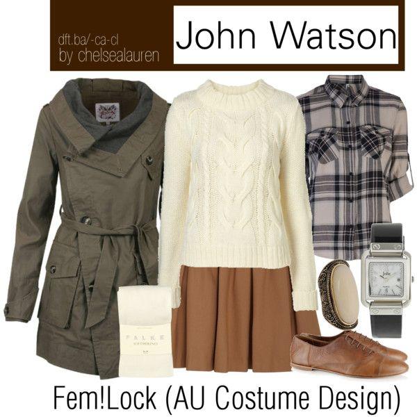 """John Watson - (BBC) Sherlock | AU Costume Design"" by chelsealauren10 on Polyvore"