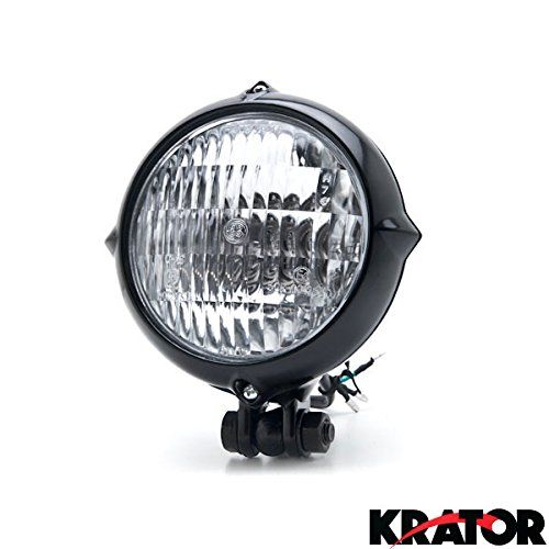 Krator Vintage Style Black Motorcycle Headlight Retro For…