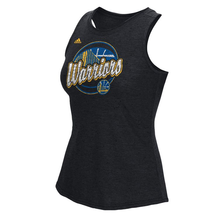 Golden State Warriors adidas Women's Logo Ball Nepped Tank - Black - Golden State Warriors - Official Online Store
