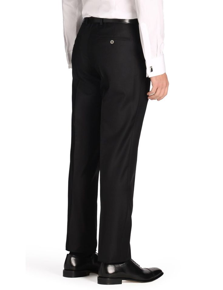 Men's Plain Black Heritage Slim Fit Suit Trouser - 1913 Collection
